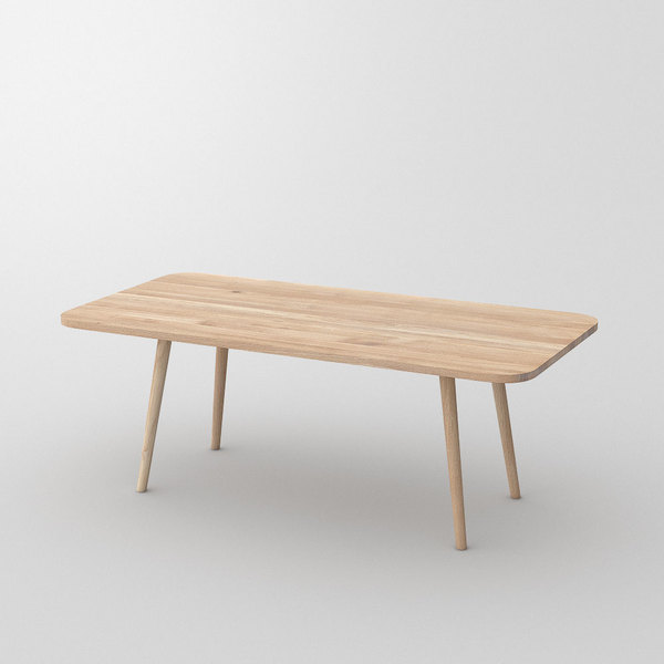 Wood Dining Table UNA cam1 custom made in Solid oak, chalked by vitamin design