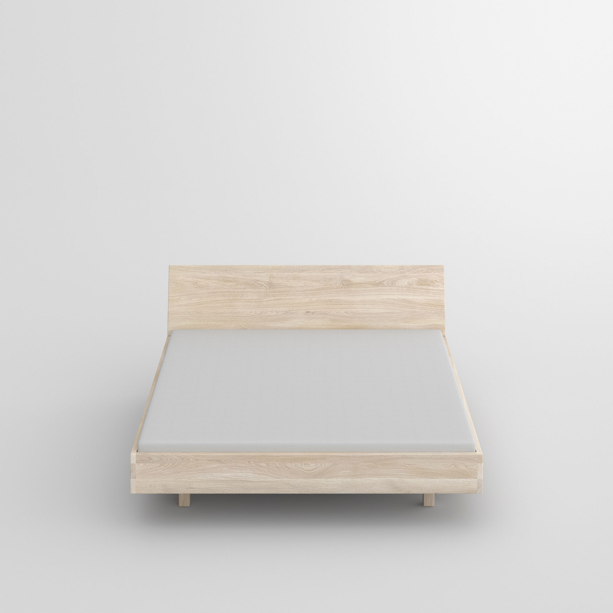 Solid Wooden Bed QUADRA SOFT cam3 custom made in solid wood by vitamin design