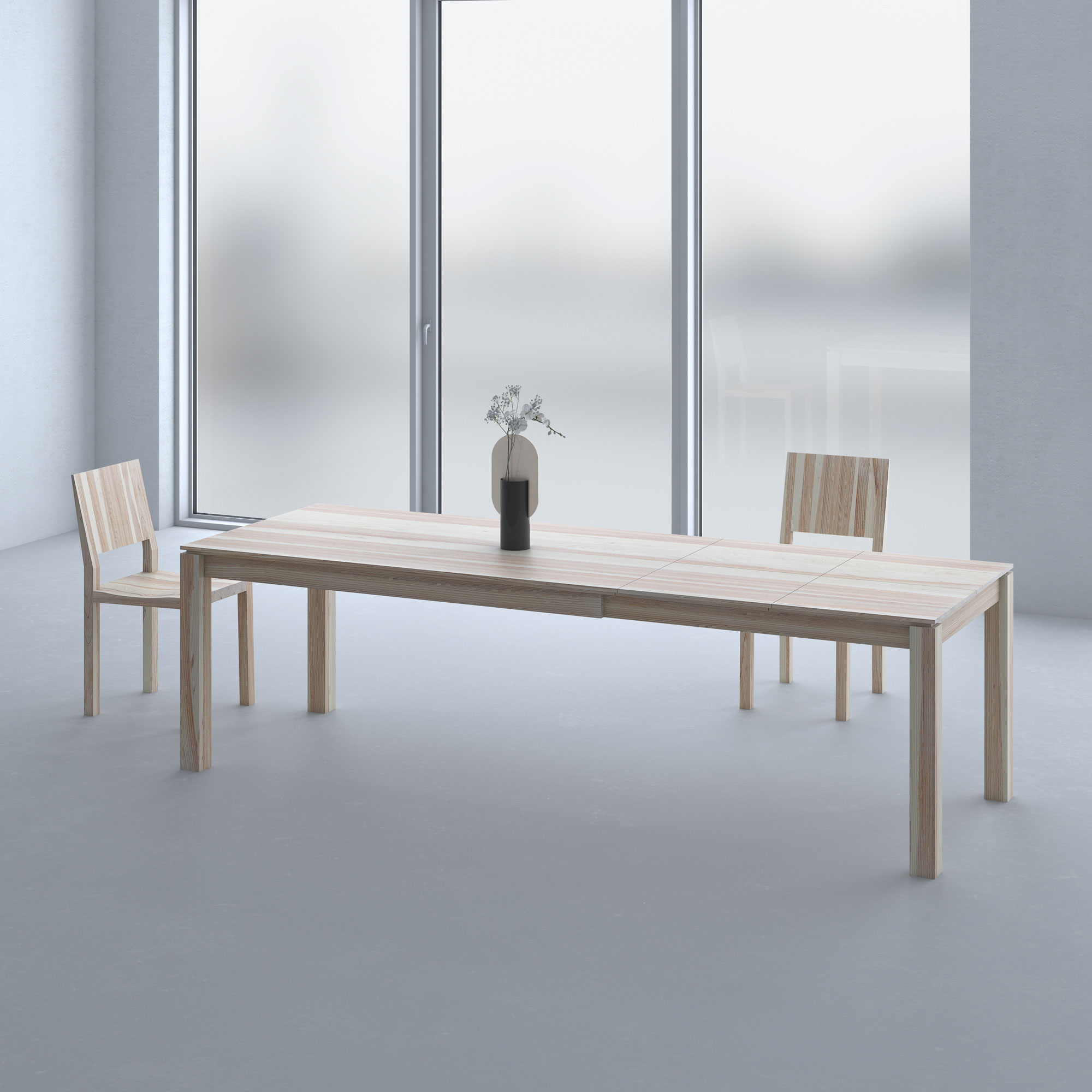 Extending Dining Table CONVERTO BUTTERFLY cam1 custom made in solid wood by vitamin design