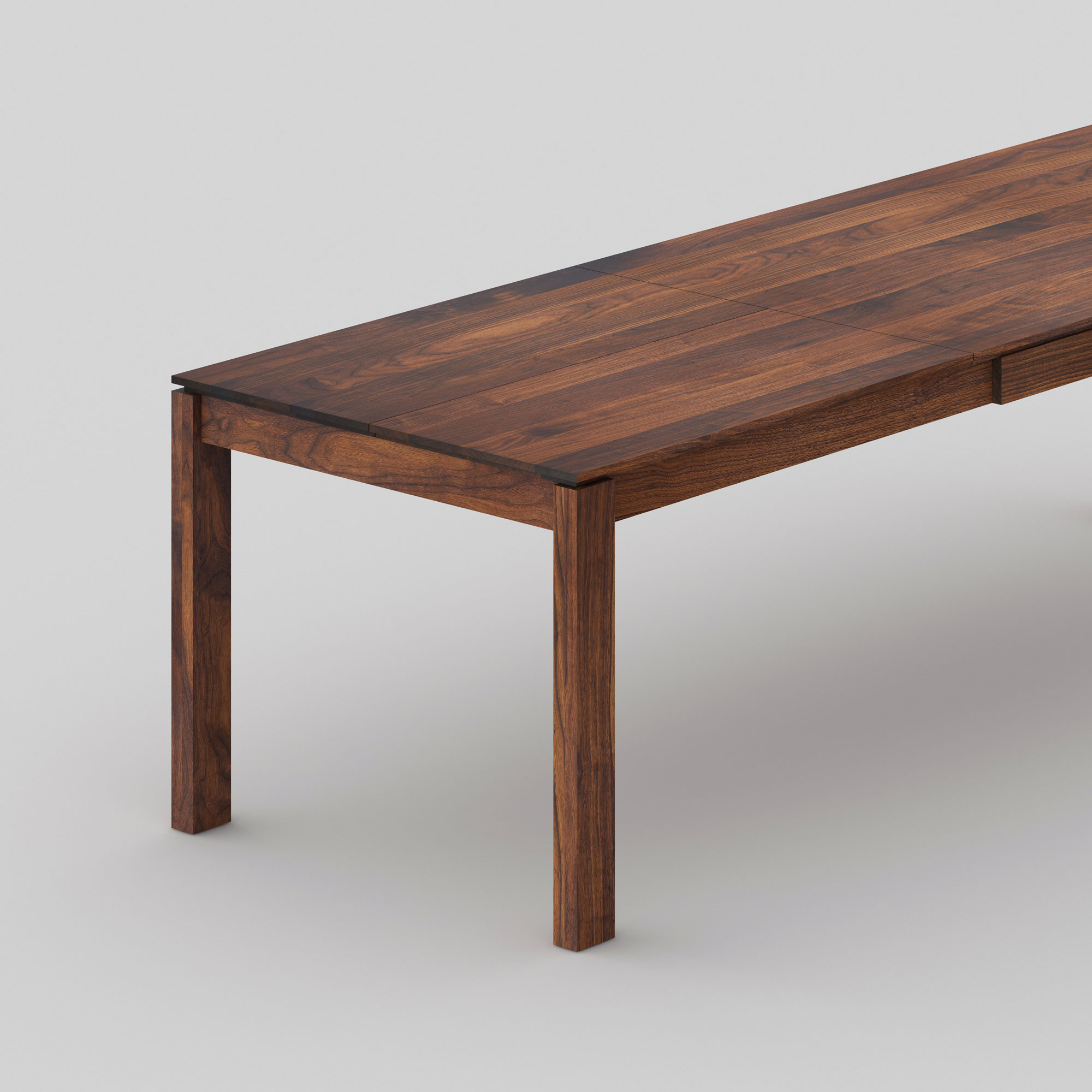 Extending Dining Table CONVERTO BUTTERFLY cam2 custom made in solid wood by vitamin design