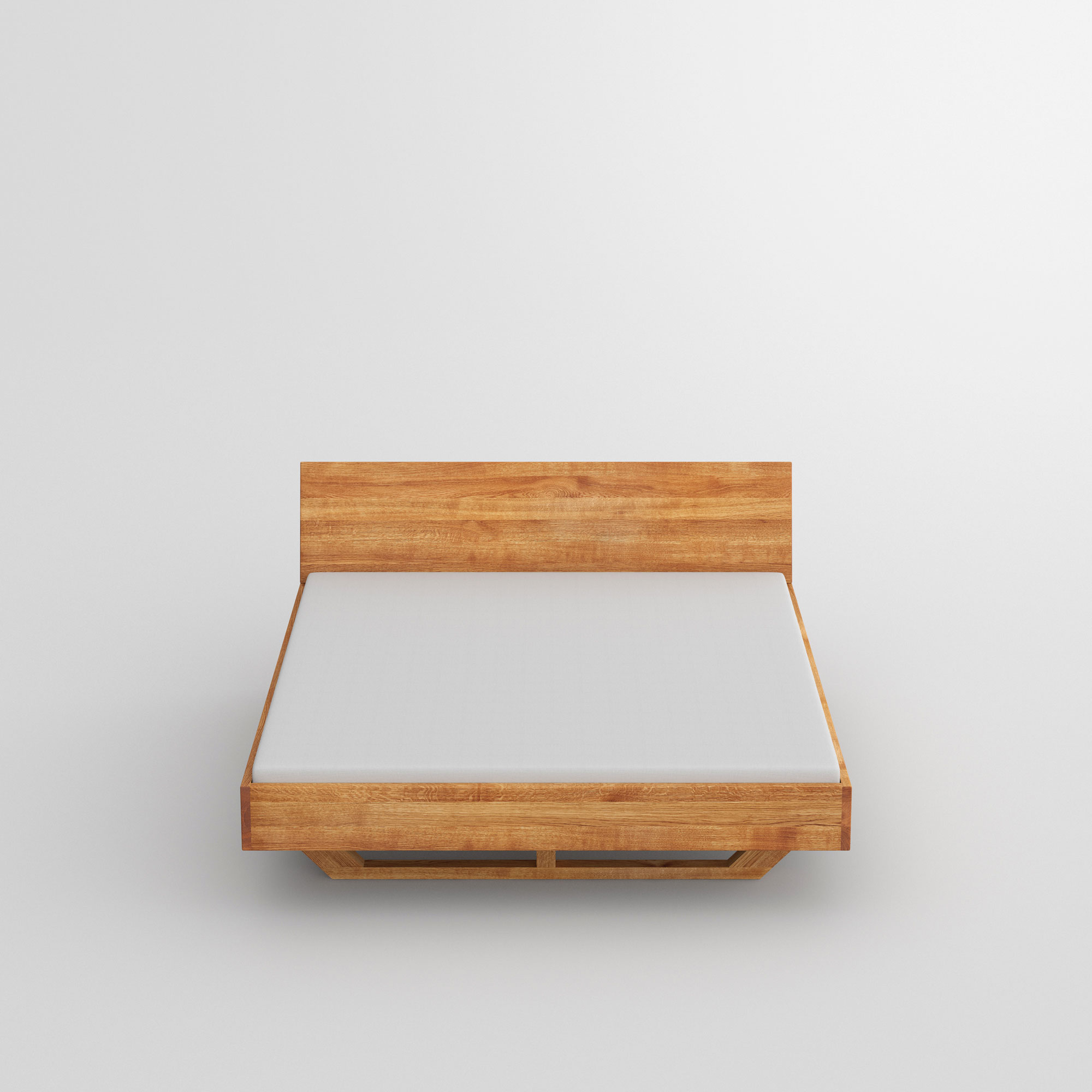 Solid Wooden Bed QUADRA SOFT cam2 custom made in solid wood by vitamin design