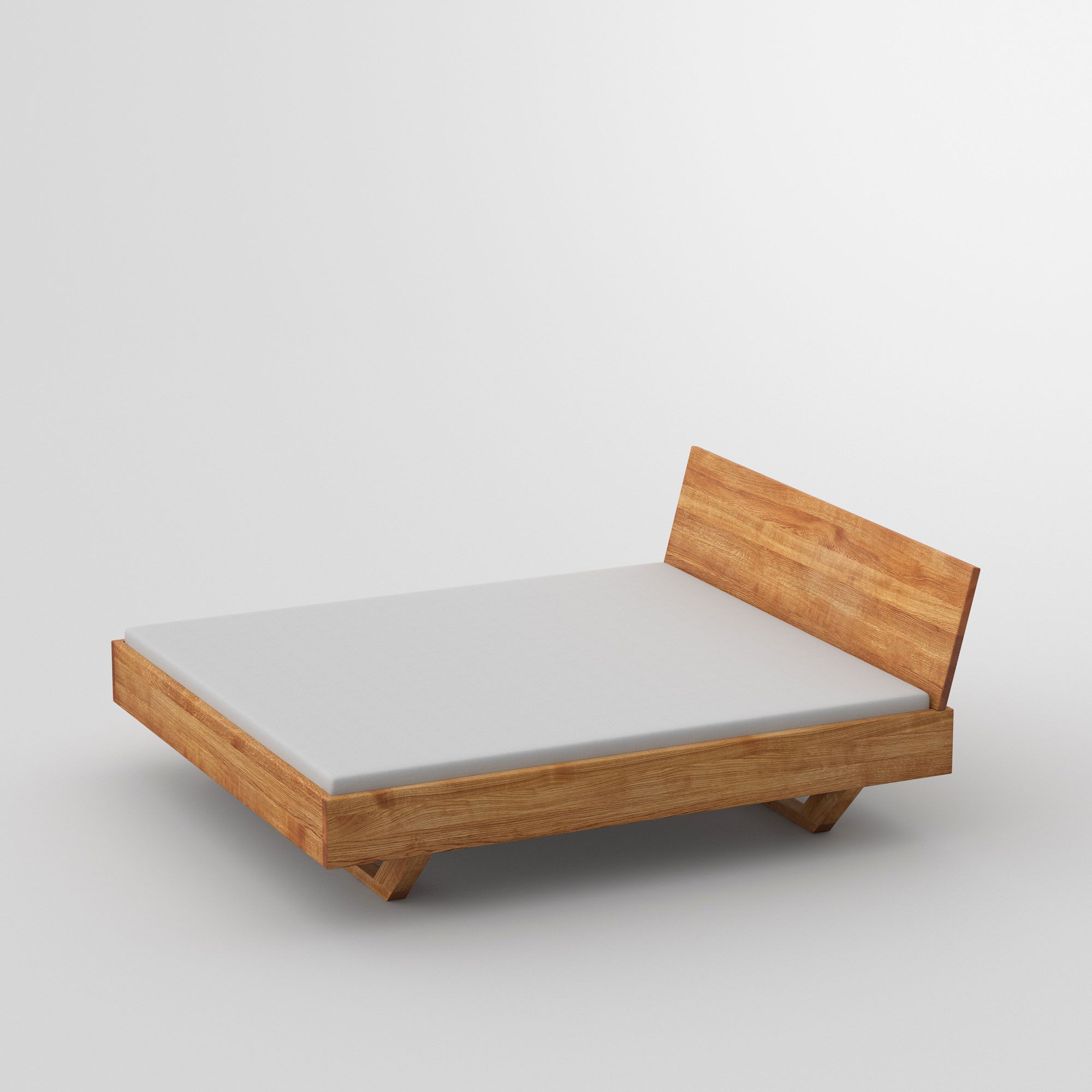Solid Wooden Bed QUADRA SOFT cam1 custom made in solid wood by vitamin design