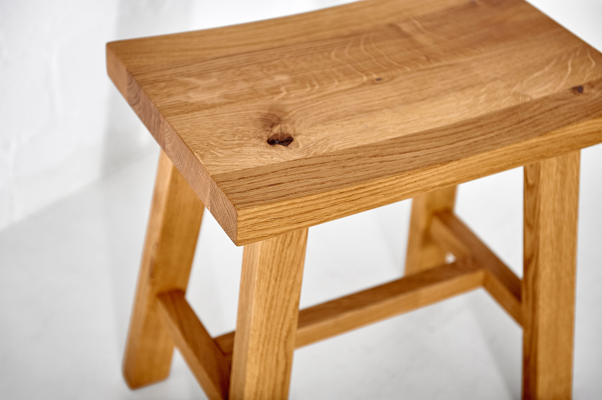 Wooden Stool TUBER Edited custom made in solid wood by vitamin design